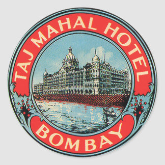 Vintage Taj Mahal Hotel Bombay Stickers
