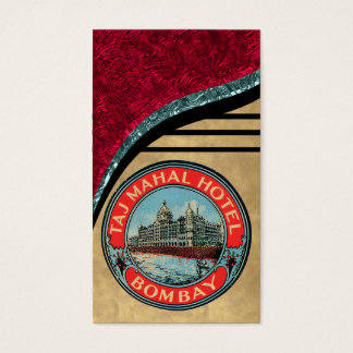 Vintage Taj Mahal Hotel Business Card