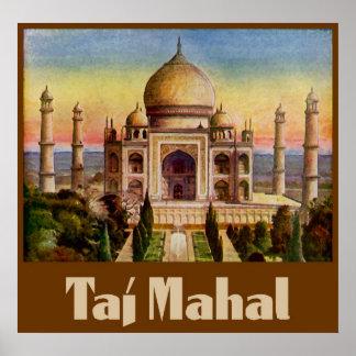 Vintage Taj Mahal Poster