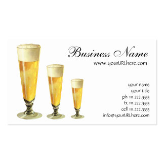 Vintage Tall Frosty Draft Beer, Alcohol Beverage Business Cards