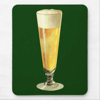 Vintage Tall Frosty Draft Beer, Alcohol Beverage Mousepad