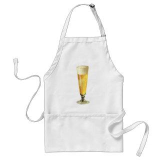Vintage Tall Frosty Draft Beer, Alcohol Beverage Standard Apron