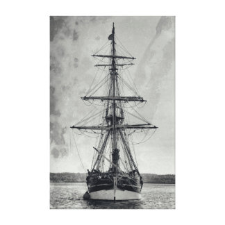 Vintage Tall Ship Canvas Print