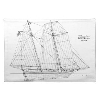 Vintage Tall Ship Louisiana Placemat