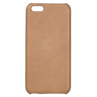 Vintage Tan Leather Brown Light Parchment Paper iPhone 5C Covers