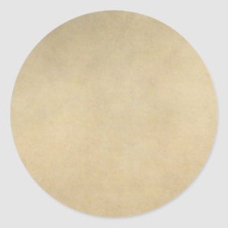 Vintage Tan Paper Parchment Background Template Classic Round Sticker