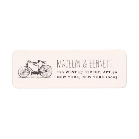Vintage Tandem Bicycle Return Address