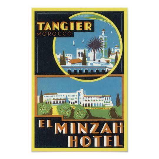 Vintage Tangier, Morocco El Minzah Hotel Poster
