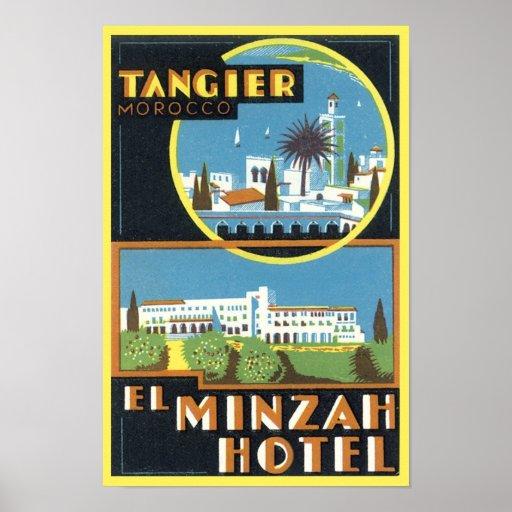 Vintage Tangier, Morocco El Minzah Hotel Posters