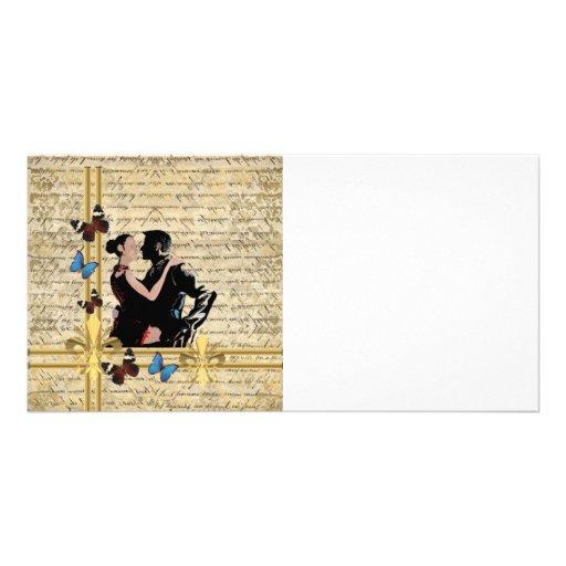 Vintage tango customized photo card
