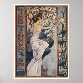Vintage Tango Song Sheet Poster