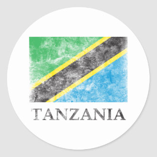 Vintage Tanzania Classic Round Sticker