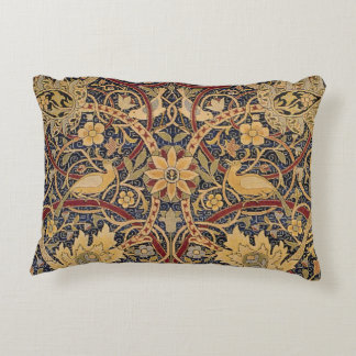 Vintage Tapestry Floral Fabric Pattern Accent Pillow