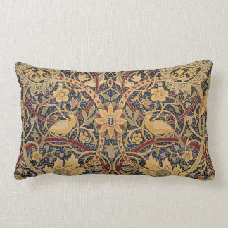 Vintage Tapestry Floral Fabric Pattern Lumbar Pillow