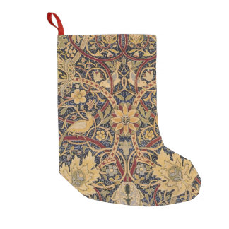 Vintage Tapestry Floral Fabric Pattern Small Christmas Stocking
