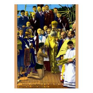 Vintage Tarpon Springs Epiphany Day Postcard