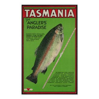 Vintage Tasmania Travel Poster