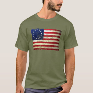 Vintage Tattered Betsy Ross American Flag T-shirt