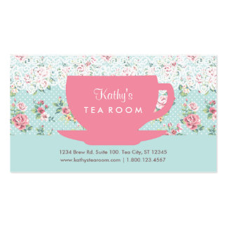 Vintage Tea Cup and Teapot Business Card