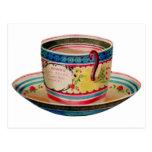 Vintage Tea Cup Postcard