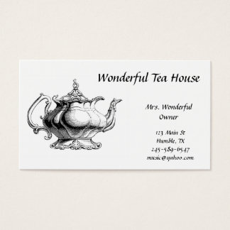 Vintage Tea Pot  Business Card