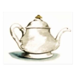 Vintage Tea Pot Postcard