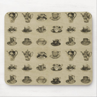 Vintage Teacups Mouse Pad