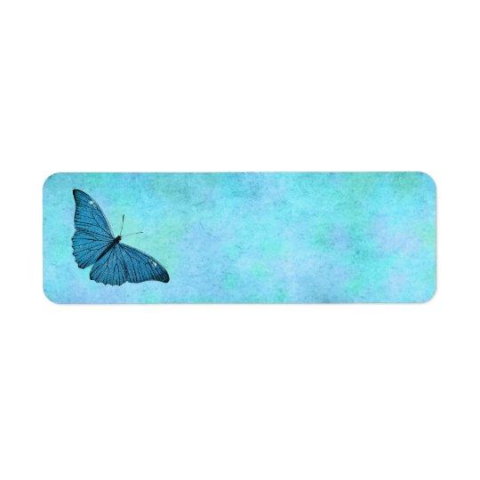 Vintage Teal Blue Butterfly 1800s Illustration