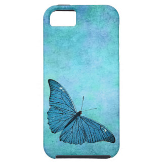 Vintage Teal Blue Butterfly 1800s Illustration iPhone 5 Cover