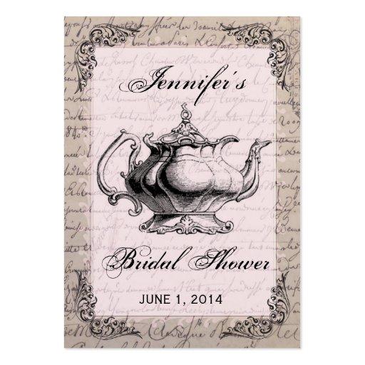Vintage Teapot Bridal Shower Favor Tag Card Business Card Templates