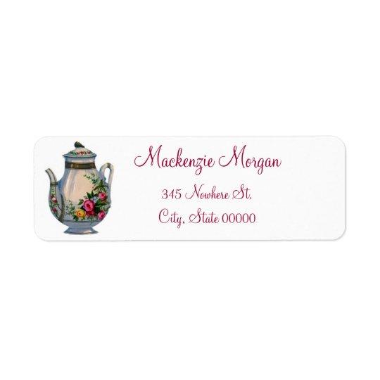 Vintage Teapot Return Address Labels
