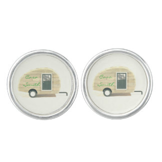 Vintage teardrop trailer gypsy caravan cuff links