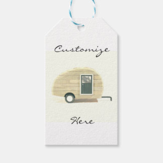 Vintage teardrop trailer gypsy caravan gift tags