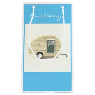 Vintage teardrop trailer gypsy caravan small gift bag
