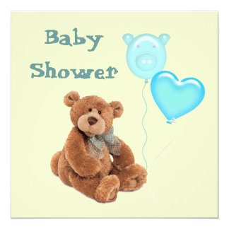 Vintage Teddy Bear Baby Shower Invitation