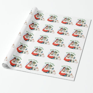 Vintage Teddy Bear Christmas Wrapping Paper