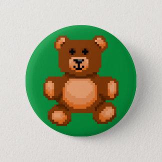 Vintage Teddy Bear - Pixel Art 2 Inch Round Button