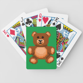 Vintage Teddy Bear - Pixel Art Bicycle Playing Cards