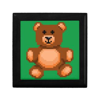 Vintage Teddy Bear - Pixel Art Gift Box