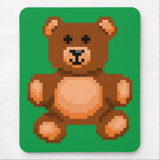 Vintage Teddy Bear - Pixel Art Mouse Pad