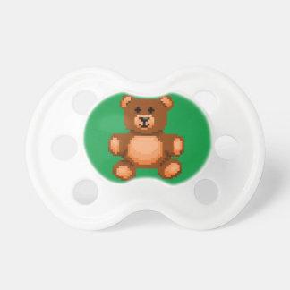 Vintage Teddy Bear - Pixel Art Pacifier