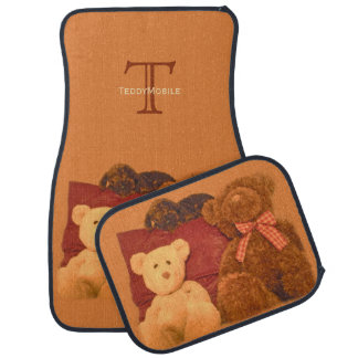 Vintage Teddy Bears Monogrammed Car Floor Mats