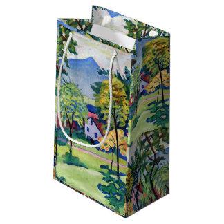 Vintage Tegernsee Landscape August Macke Small Gift Bag