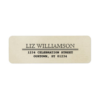 Vintage Telegram Style Address Label