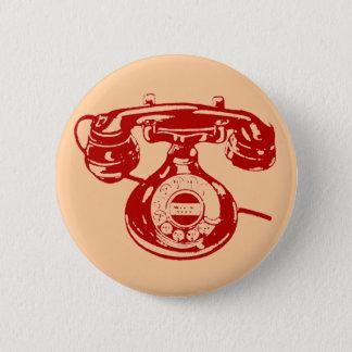 Vintage Telephone 2 Inch Round Button