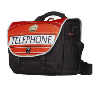 Vintage Telephone Booth Laptop Computer Bag