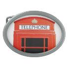 Vintage Telephone Booth Oval Belt Buckle