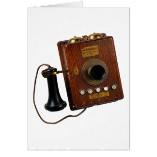 Vintage Telephone, Greeting Card