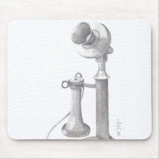vintage telephone hand drawn sketch mouse pad