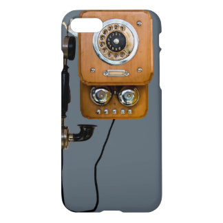 Vintage Telephone iPhone 7 Glossy Case